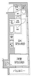 アイル新宿イースト 7階1DKの間取り