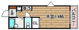 JR東海道・山陽本線 摂津富田駅 3.6kmの賃貸マンション 2階1Kの間取り