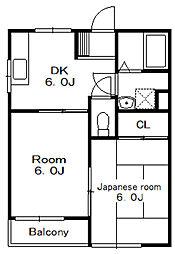 KZ五番館[2階]の間取り