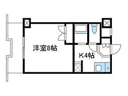 神奈川県大和市上草柳の賃貸マンションの間取り