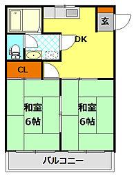 ラ・フォーレII[2階]の間取り