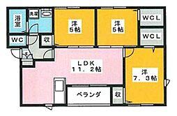 皿山3丁目アパート[302号室]の間取り
