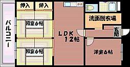 日の出マンション 仲介手数料10800円 専用消毒も不要[3階]の間取り