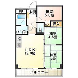 ライオンズマンション泉南樽井第2 3階3LDKの間取り