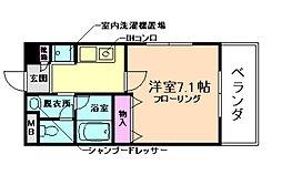レジデンス蛍池[4階]の間取り