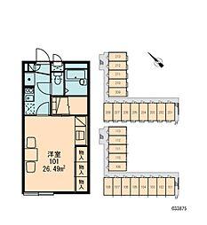 レオパレスボヌールII[1階]の間取り