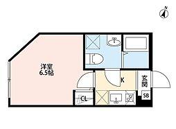埼玉県さいたま市南区沼影2丁目の賃貸アパートの間取り
