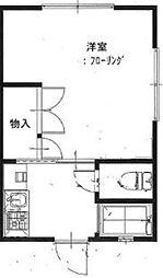 秀平アパート[202号室]の間取り