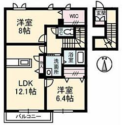 コンブリオ B[2階]の間取り