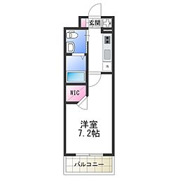 Osaka Metro谷町線 平野駅 徒歩2分の賃貸マンション 2階1Kの間取り