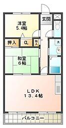 愛知県愛知郡東郷町白鳥2丁目の賃貸アパートの間取り