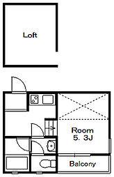 ボナ・クオリアVIII[2階]の間取り