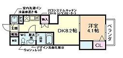 リーガルコート川西小花I[8階]の間取り