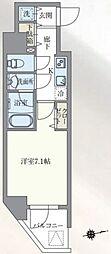 東京メトロ丸ノ内線 本郷三丁目駅 徒歩7分の賃貸マンション 9階1Kの間取り