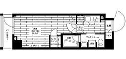 ステージファースト世田谷アジールコート 4階1Kの間取り