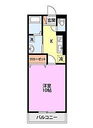 新潟県上越市春日野1丁目の賃貸アパートの間取り