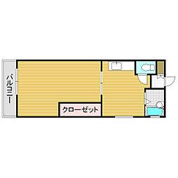 エルモールマンション姪浜[401号室]の間取り