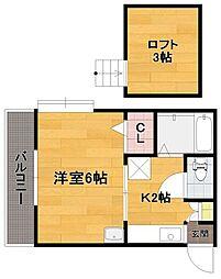 エーデル神松寺[1階]の間取り