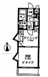 ライズII[1階]の間取り