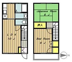 [テラスハウス] 神奈川県相模原市中央区宮下本町2丁目 の賃貸【/】の間取り