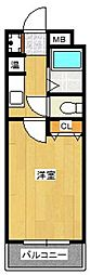 メゾン箱崎II[302号室]の間取り