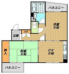アークス東須磨[2階]の間取り