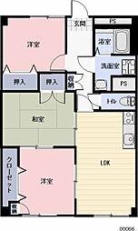 愛知県岩倉市東町藤塚の賃貸マンションの間取り
