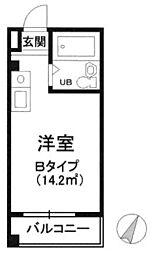 東京都文京区大塚5の賃貸マンションの間取り