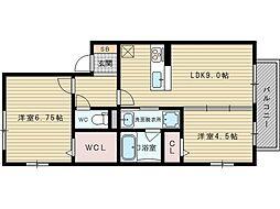 ガーデンハウスEW[1階]の間取り