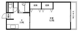 アットホーム石田[2階]の間取り