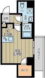 ARKMARK上北沢 3階ワンルームの間取り