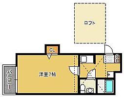 stage吉塚[201号室]の間取り