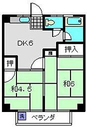 トキワダイマンション[302号室]の間取り