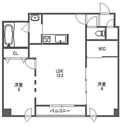 北海道札幌市中央区北五条西14丁目の賃貸マンションの間取り