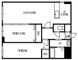 北海道札幌市中央区北四条東4丁目の賃貸マンションの間取り