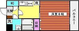 シャルム唐原[203号室]の間取り