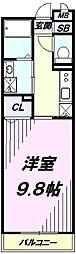 JR青梅線 河辺駅 徒歩11分の賃貸マンション 2階1Kの間取り