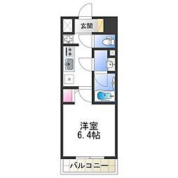 Osaka Metro千日前線 北巽駅 徒歩7分の賃貸マンション 9階1Kの間取り