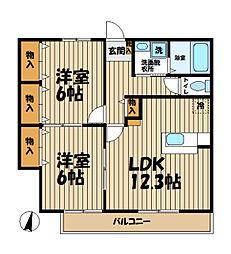 Comodo Casa[3階]の間取り