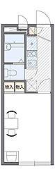 JR総武線 千葉駅 バス15分 都町下車 徒歩3分の賃貸アパート 1階1Kの間取り