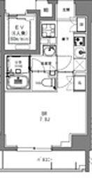 JR総武本線 馬喰町駅 徒歩2分の賃貸マンション 9階1Kの間取り