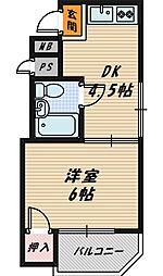 シャトー野江[7階]の間取り