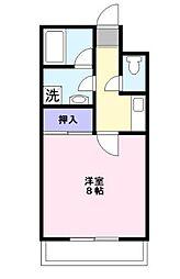 藤コーポE[1階]の間取り