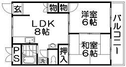 富士コーポラス[5階]の間取り