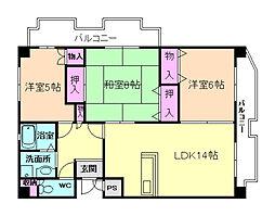 レジデンス桜の町[2階]の間取り