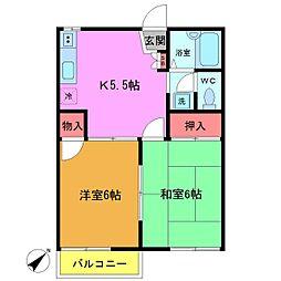 パークハイム21[2階]の間取り