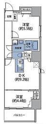 ルネサンスコート秋葉原 8階2DKの間取り