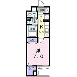 グレイスコモンズ東静岡[1階]の間取り