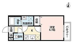 village 響 二号館(ヴィレッジヒビキニゴウカン)[1階]の間取り