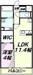 アイム藤沢 3階1LDKの間取り